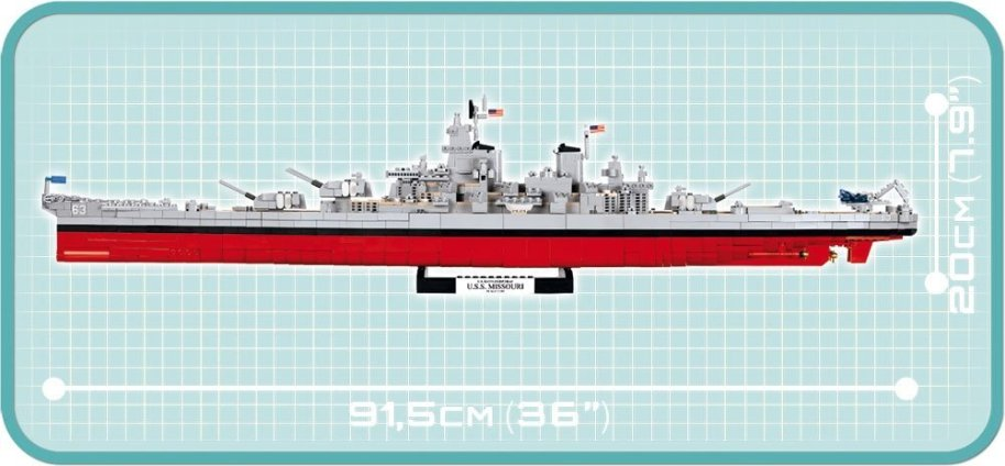 COBI USS IOWA_ USS MISSOURI SET (4812) Overal size