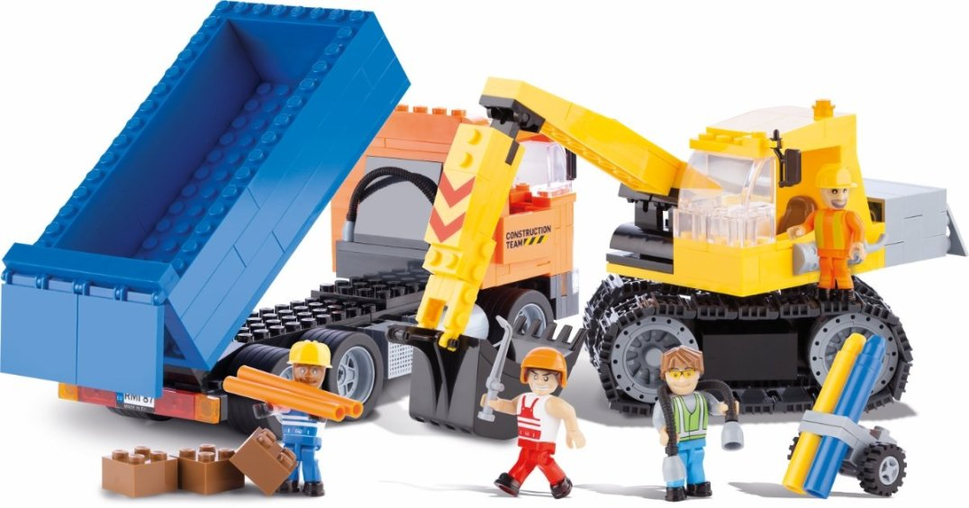COBI Dump Truck & Excavator Set (1667) Best Price