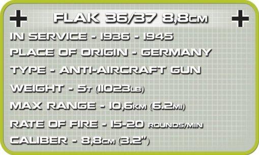 COBI Flack 36/37 8.8 CM Set (2367) Specs