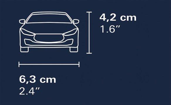 COBI Maserati Ghibli Set (24564) Size