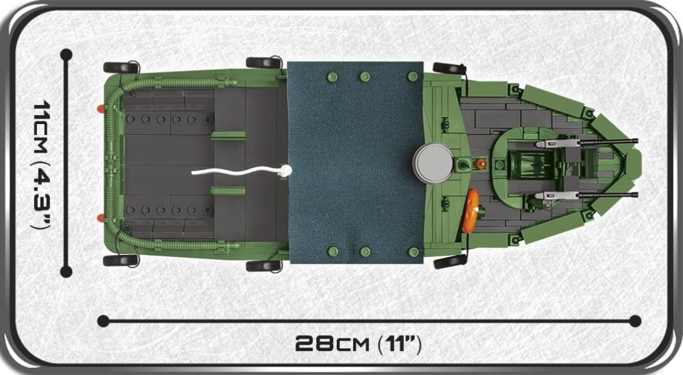 COBI PBR 31 MKII Patrol Boat Set (2238) Size