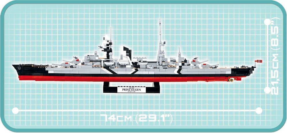 COBI Prince Eugen Heavy Cruiser Set (4823) Scale