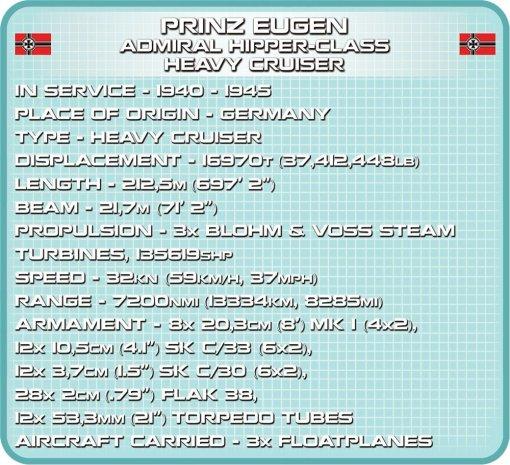 COBI Prince Eugen Heavy Cruiser Set (4823) Spcs