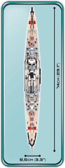 COBI Prince Eugen Heavy Cruiser Set (4823) length
