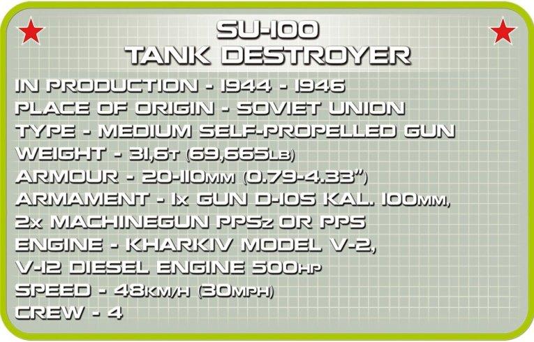 COBI SU-100 Tank Destroyer (2541) Specs