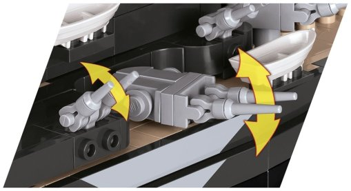 COBI Tirpitz Battleship Set (3085) Flak guns