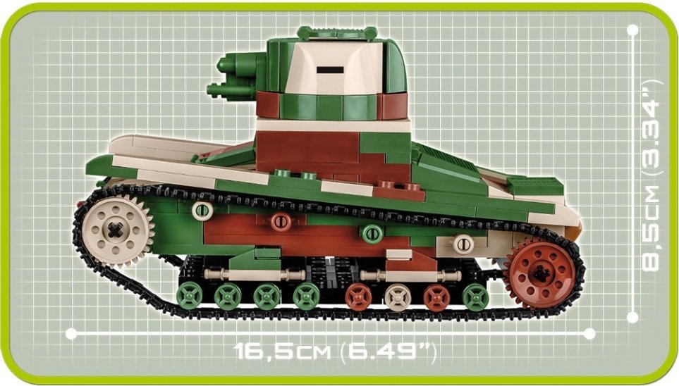 COBI Vickers Tank Set (2520) Length