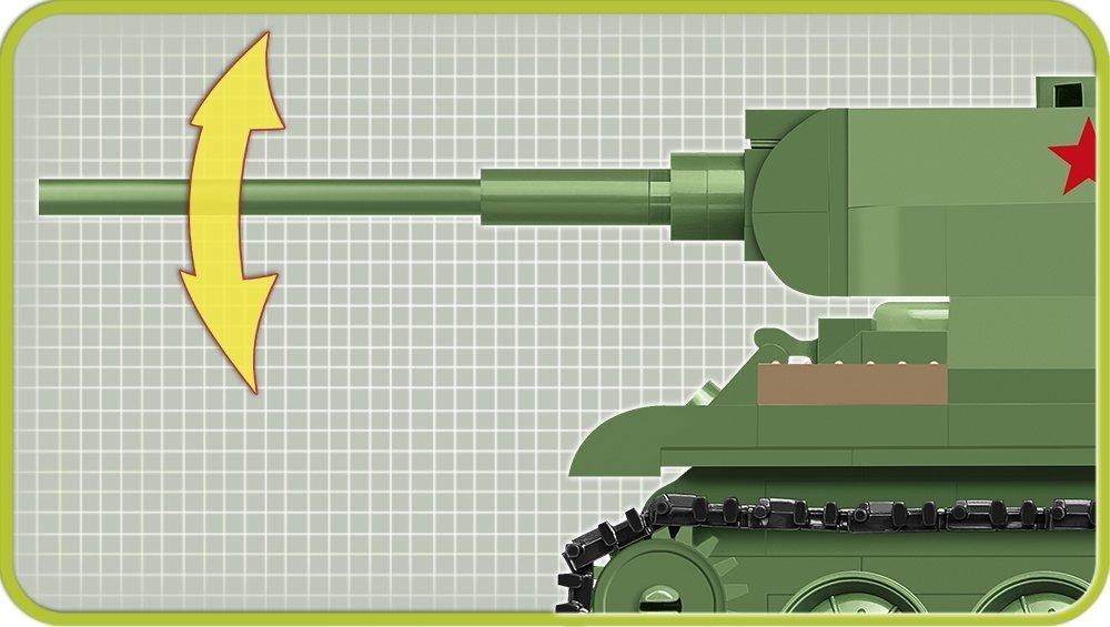 COBI 148 Scale T34 Tank (2702) Barrel