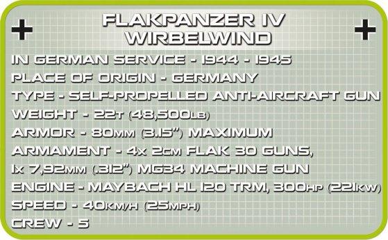 COBI FLAKPANZER IV WIRBELWIND SET (2548) specs