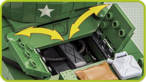 COBI Sherman M4A3E2 Jumbo Set (2550) Engine