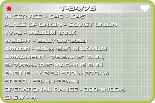 COBI 148 T-34 76 Set (2706) Specs