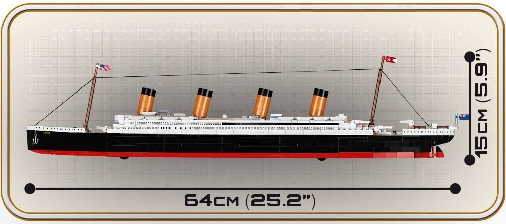 COBI Titanic 1:450 Scale Set (1929) length