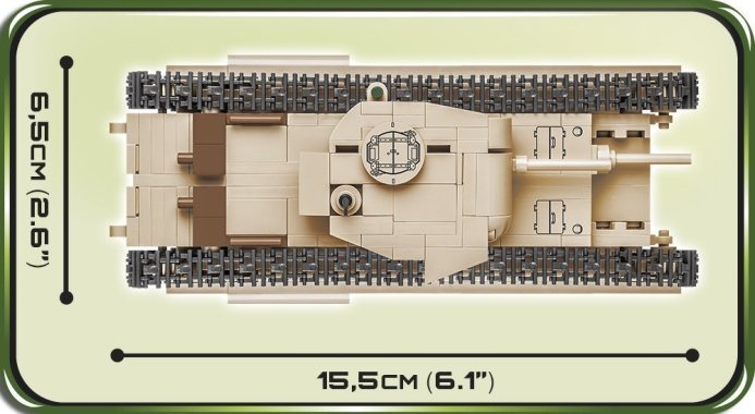 COBI A22 Churchill MK II (CS) 2709 Size