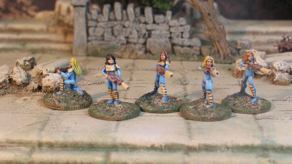 15mm All Female Strike Team from Rebel Minis