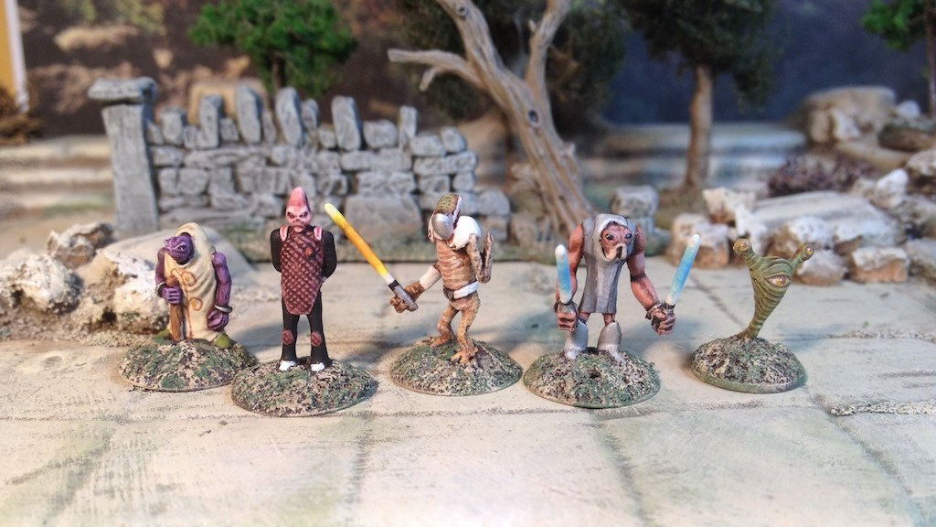 Critical Mass Games Captain Bytt and Crew 15mm skirmish pack