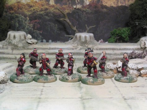 GZG Japanese Corporate Troops and Ashigaru 15mm Sci Fi