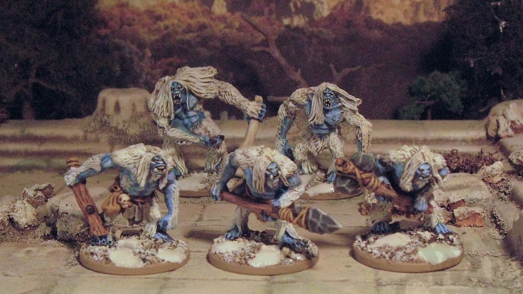 15mm Snow Trolls from Copplestone Castings. Frostgrave?