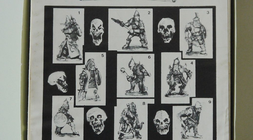 Pre-slotta Citadel Chaos fighter 1984 Specialty Set 3 - The Knights of Chaos 25mm pre-slotta Citadel miniatures