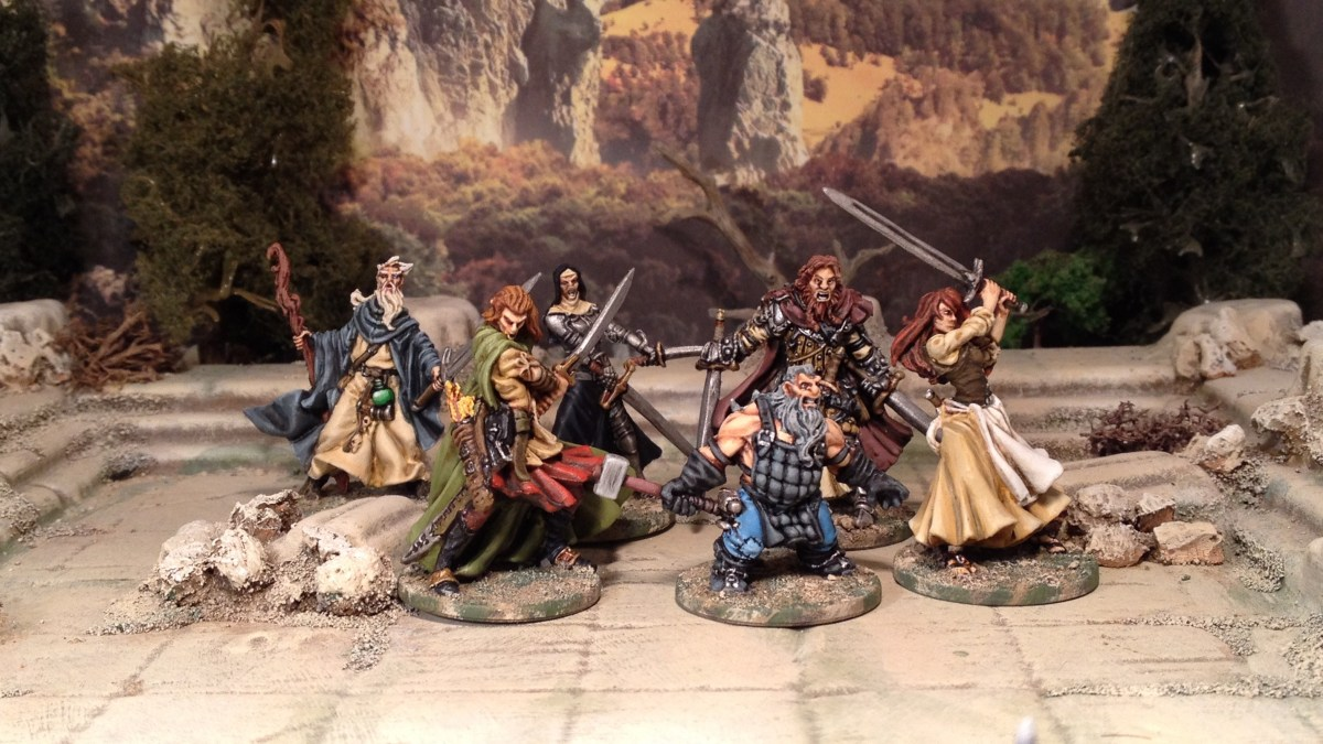 Zombicide Black Plague - Base Game Characters painted up