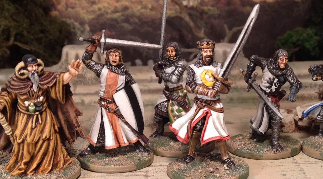 Zombicide Black Plague Monty Python and the Holy Grail painted 28mm miniatures