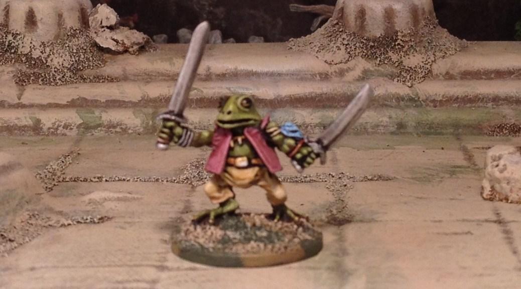 Splintered Light Miniatures 20mm Woodland Warrior Frog amphibian toad
