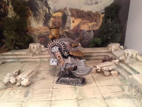15mm Demonworld Dwarf Battle Rider with Axes Warmachine