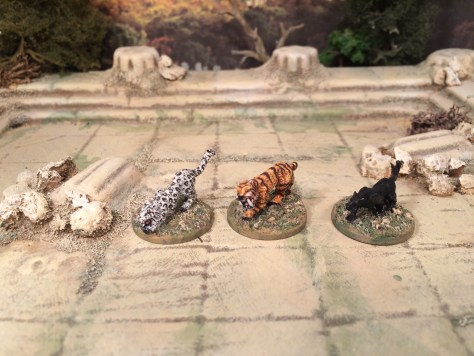 15mm big cats Frostgrave Fantasy Miniatures