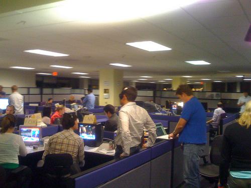 Yahoo! Newsroom in Santa Monica, Calif.
