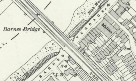 Ordnance Survey map, 1893 showing Barnes Terrace and Malthouse Passage, reproduced with the permission of the National Library of Scotland