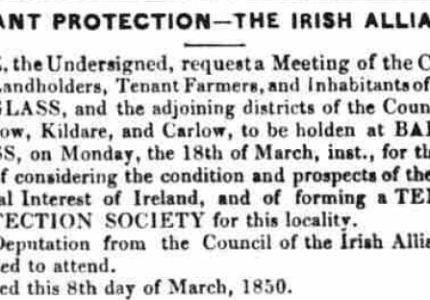 Ireland Census Substitutes: Misc. 1840s-1870s, Counties Carlow, Kildare, Wexford and Wicklow