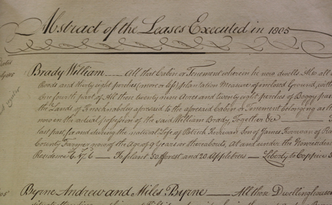 Abstracts of Leases on Earl Fitzwilliam's Estate in Counties Wicklow, Kildare and Wexford, Ireland 1795-1808