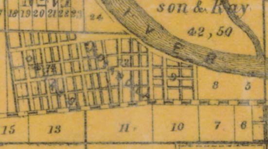 West Indianapolis, Ray & Blakes subdivision, Indianola, 1889