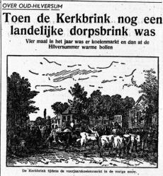 Toen de Kerkbrink nog een landelijke dorpsbrink was