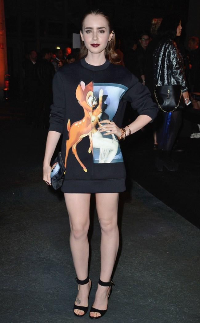 WTFSG-lily-collins-givency-bambi-paris-fashion-week