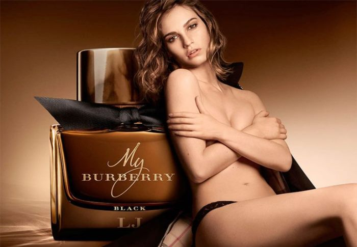 wtfsg_lily-james-topless-burberry-black-fragrance-campaign