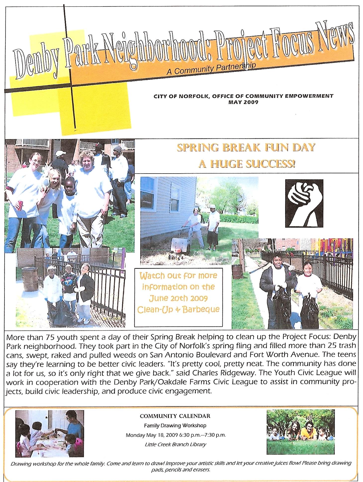 Denby Park Project Focus Newsletter