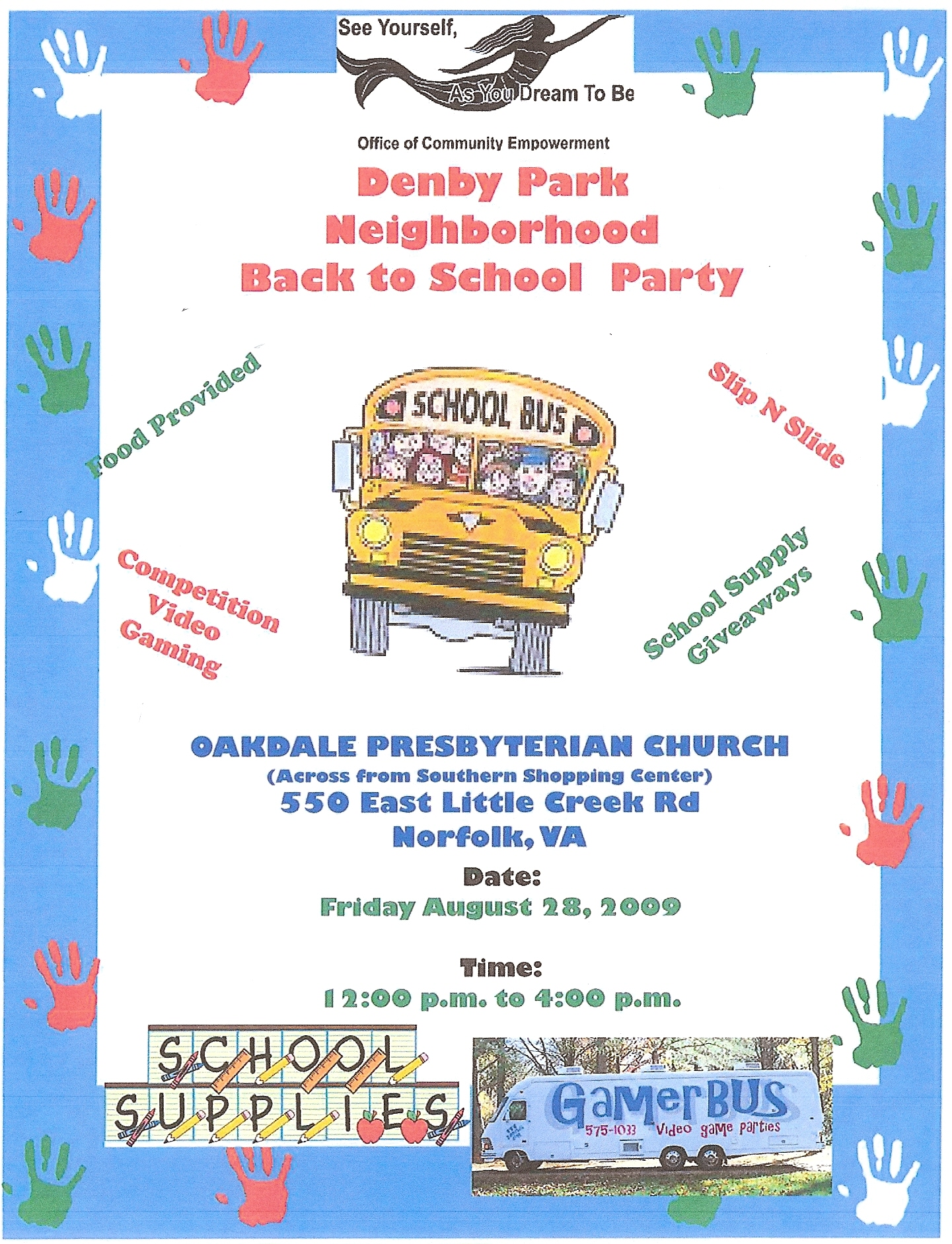Denby Park Back to School Party