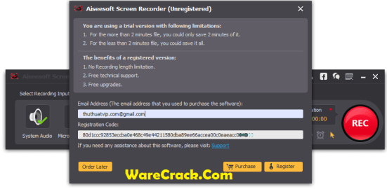 Aiseesoft Screen Recorder Registration Code