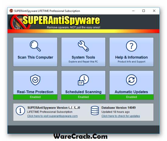 SUPERAntiSpyware Lifetime Key