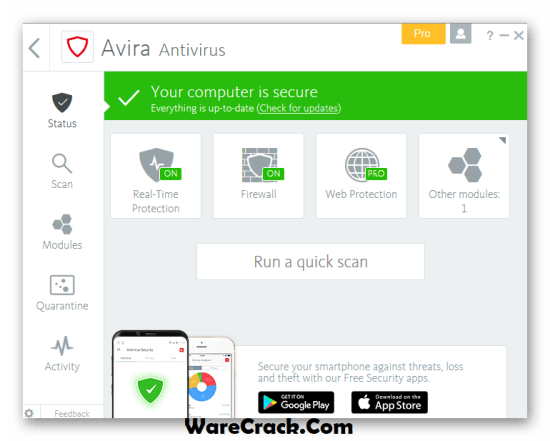 Avira Antivirus Pro 2019 License Key
