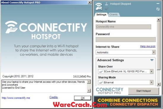 Connectify Hotspot Pro Serial Key