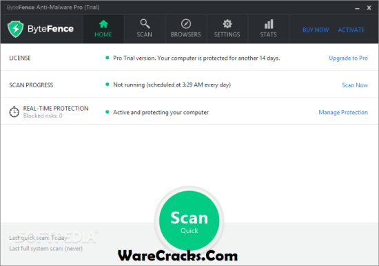 ByteFence Anti-Malware Pro 5.4.1.19 Crack + License Key 2020