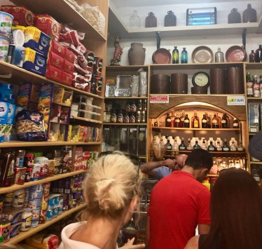 Inside the spice shop!