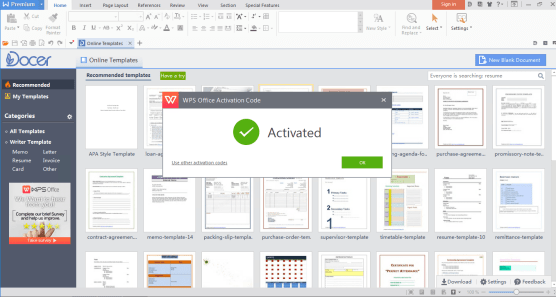 WPS Office Activation Code