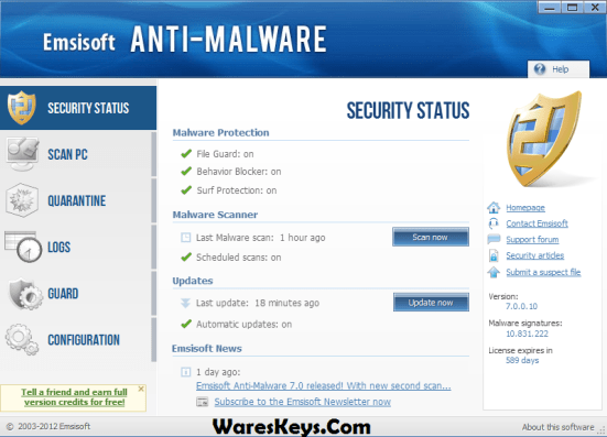 Emsisoft Anti-Malware 2020 Crack