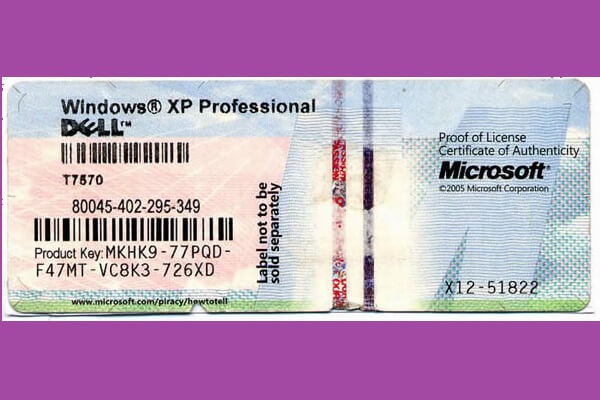 product key windows xp professional sp2