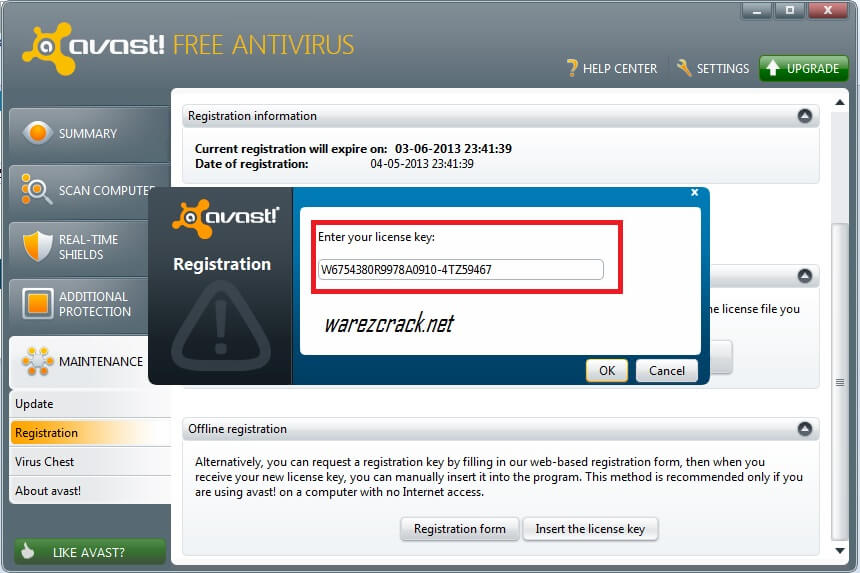 avast free activation key
