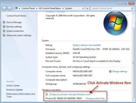 Windows 7 Home Premium Crack plus Activation Key Download