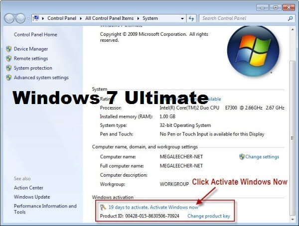 Windows 7 ultimate product key 100 working for Window 7 ultimate product key