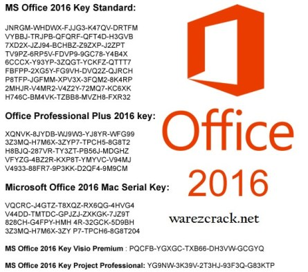 Microsoft Office 2016 Key Free Download